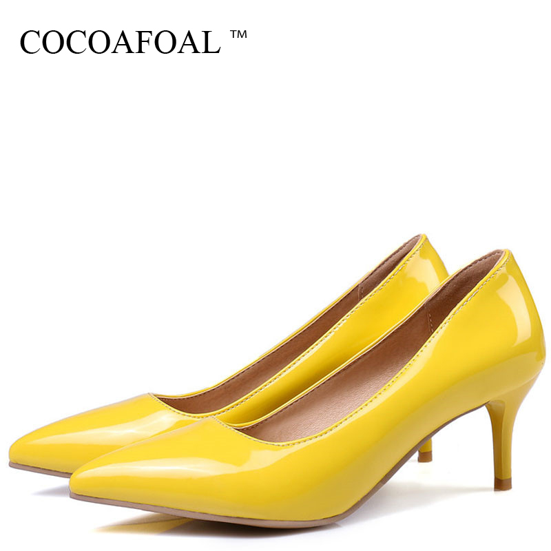COCOAFOAL Women's High Heels Shoes Woman Stiletto Wedding Shoes Zapatos Mujer Tacon Pumps Women High Heels Ladies Shoes Ayakkab цены онлайн