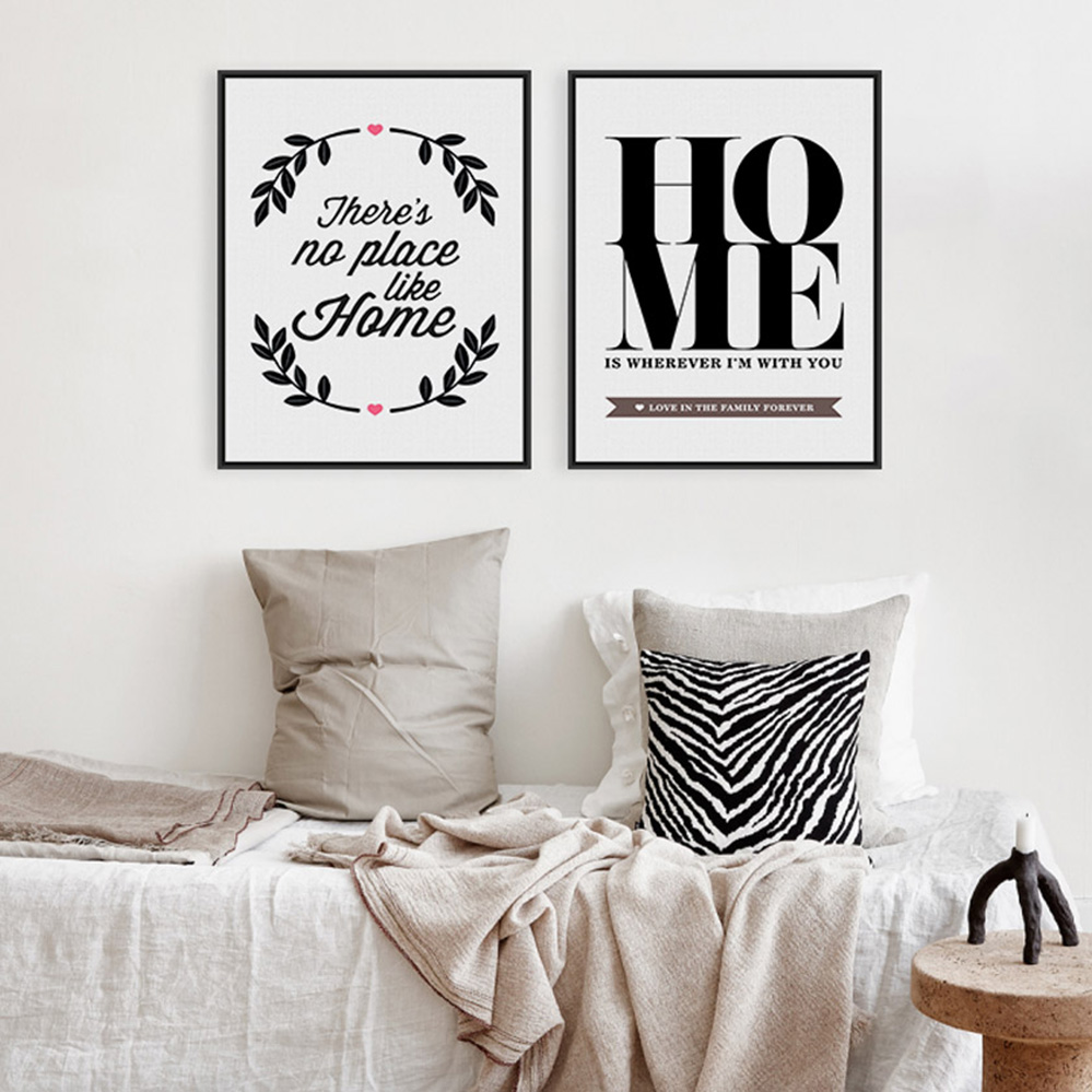 Modern minimalist black white motivational typography for Small room quotes