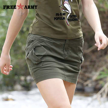 2017 Smmer Womens Skirts Military Army Green short Skirt Cotton Sexy Mini Pencil Skirts Femme Casual Plus Size S~3XL GK-9597A