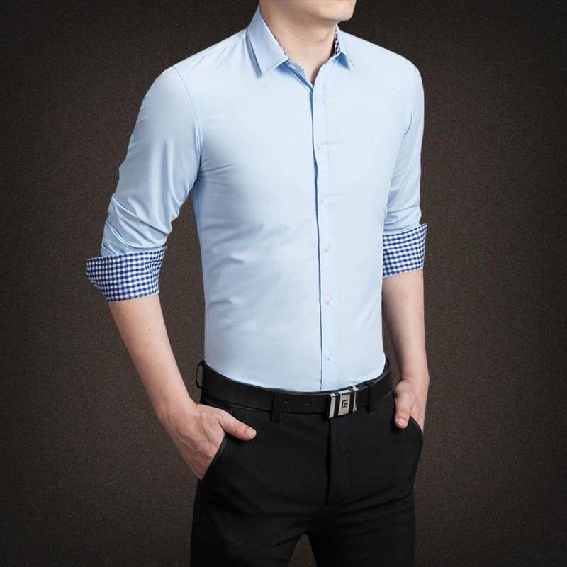 2015 New Cotton Mens Plaid Shirt շքեղ Տղամարդկանց - Տղամարդկանց հագուստ - Լուսանկար 1