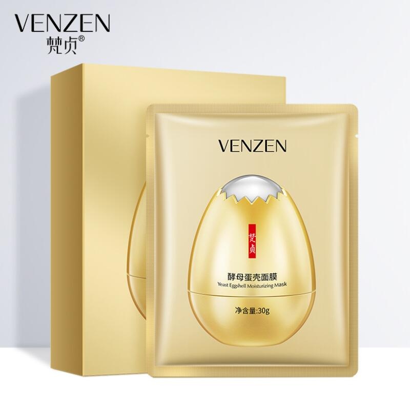 VENZEN Yeast Eggshell Facial Mask Moisturizing Nourishing Whitening anti aging Face Mask Face Skin Care 10pcs in Treatments Masks from Beauty Health