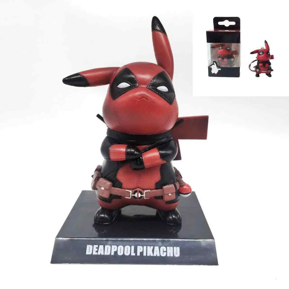 Anime figure Pikachu cosplay Captain America, Deadpool.Action Figure Collectible Model Toy,pop toys.