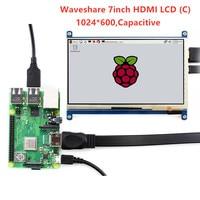 Waveshare 7'' Display , 7inch HDMI LCD (C) ,Capacitive Touch Screen,HDMI monitor,Supports Raspberry Pi Model 2B/3B/3B+ BB Black