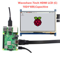 Waveshare 7'' Display , 7inch HDMI LCD (C) ,Capacitive Touch Screen,HDMI monitor,Supports Raspberry Pi Model 2B/3B/3B+ BB Black