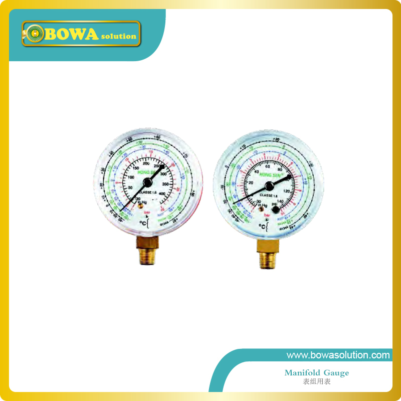 R410a Single refrigeration pressure gauge(Code 1527) including high and Low r134a single refrigeration pressure gauge code 1503 including high and low