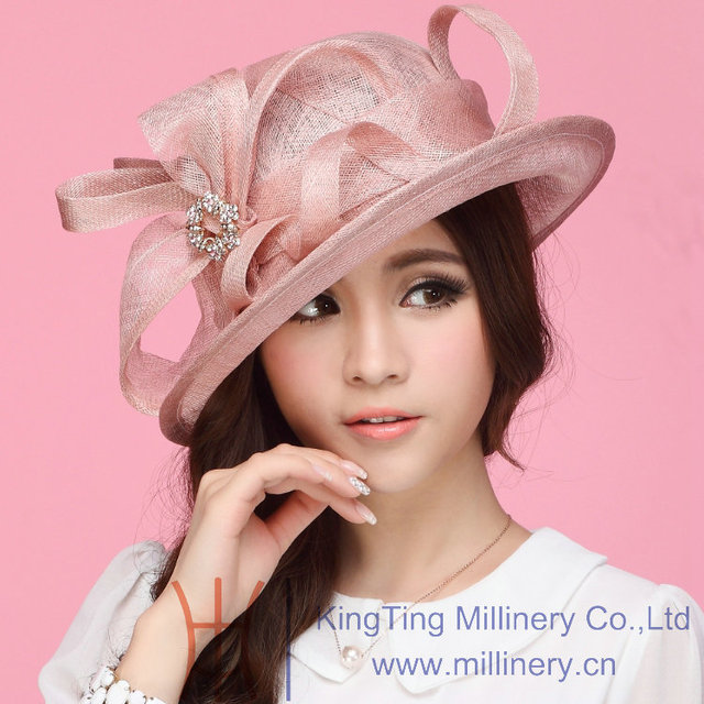 Бесплатная доставка продажа мода женщины шлемов платья для женщин Sinamay Hat женщины Hat Sun Shading мода летнее солнце шляпу Sinamay с бантом