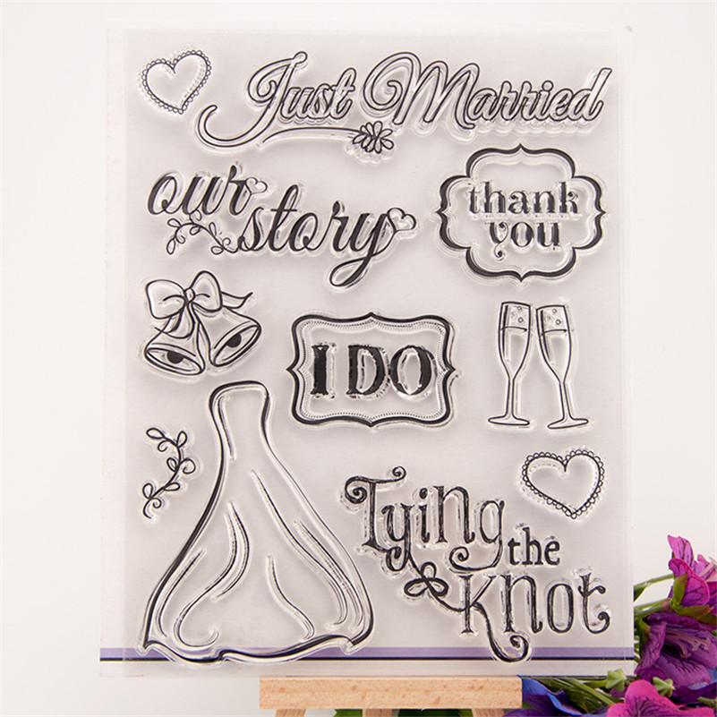 marry with you design for wedding gift DIY scrapbook paper card rubber transparent clear stamp paper card fun RM-159 1 design laser cut white elegant pattern west cowboy style vintage wedding invitations card kit blank paper printing invitation