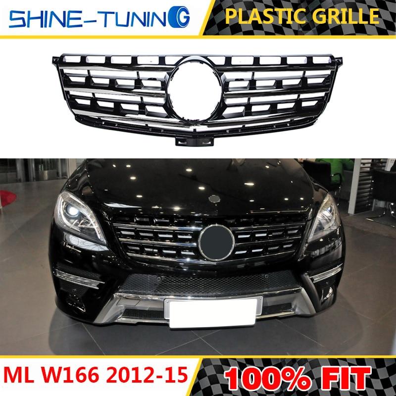 Mercedes Benz ML500 ML320 4MATIC MClass W164 Front Bumper UPPER Grille 7 Holes