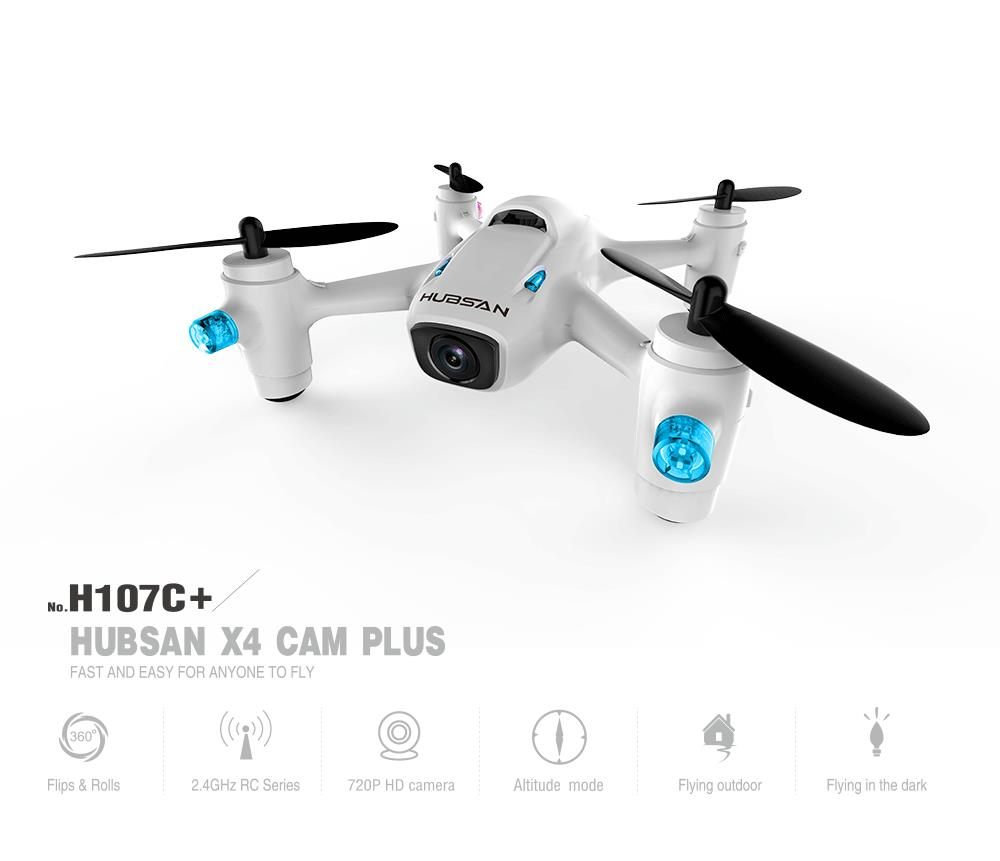 Hubsan X4 Camera Plus H107C+ 6-axis Gyro RC Quadcopter with 720P Camera RTF 2.4GHz