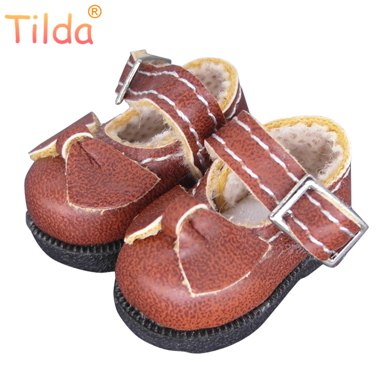 Tilda 3.2cm Doll Shoes For Blythe Azone Doll Toys,1/8 Mini Cute Leather DIY Handmade Shoes For BJD Dolls Boots Toy Accessories