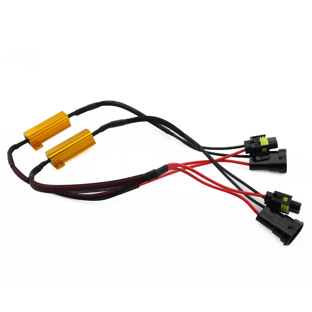 2Pcs H8 H11 H16 HB4 9006 LED Load Resistor Wiring Harness Adapter for Car  LED Fog Headlight Bulb Canbus Error Canceller Decoder -in Car Light  Accessories ...
