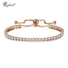 RINHOO модный Теннисный браслет с кубическим цирконием и браслет, регулируемые браслеты, женский очаровательный браслет для женщин, свадебные ювелирные изделия