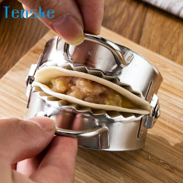 Stainless Steel Dumpling Maker Pastry Tools Bread Dough Cutter