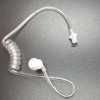 OPPXUN 20 Pçs/lote Destacável transparente tubo acústico com earbuds substituição dicas finais para o rádio em dois sentidos do fone de ouvido tubo acústico
