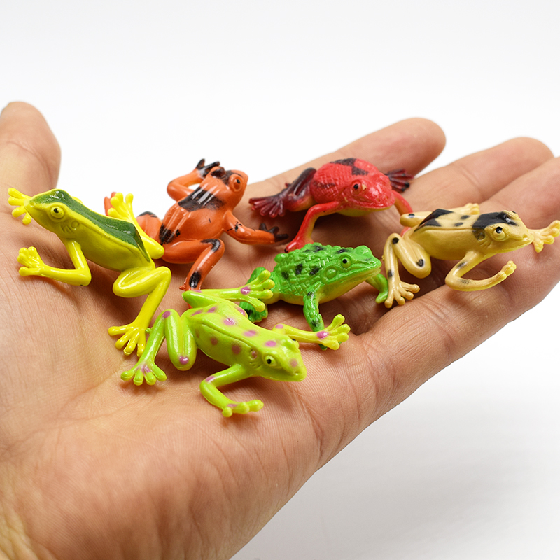 12pcslot Lifelike frog Simulation Tree frogs Action Figure Toy For funny Practical Jokes toys For Kids April fool's day