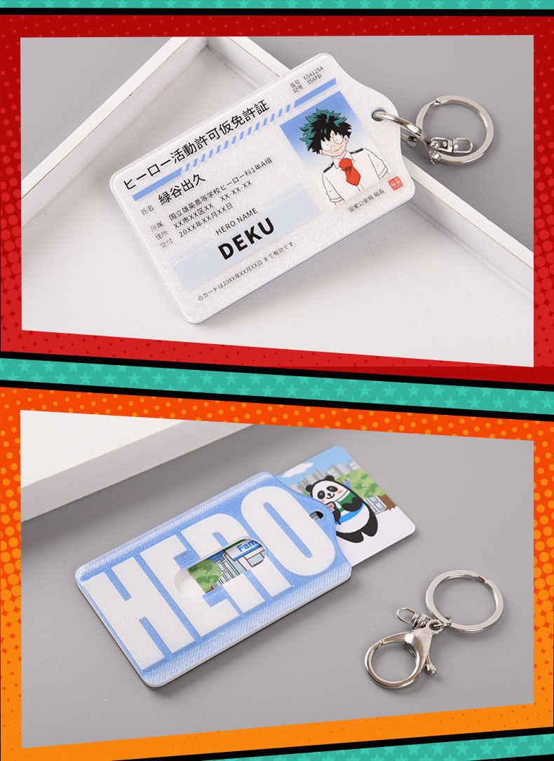 Новый аниме мой герой Academy Midoriya. Izuku Bakugou катсуки акриловые ID карты держатель сумка для ключей кулон Косплей Реквизит подарки