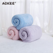AOKEE Brand Thick Face Towels 34*80cm Microfiber Bath Towel for Adults Bathroom Baby Soft Kids Terry toallas