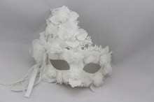 Venice masquerade mask  Halloween Horror simulation Lace White princess men and women