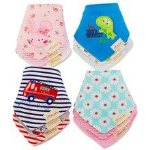 Слюна биб бандана нагрудники младенческая новорожденный полотенце малыш девочки мальчики ребенок