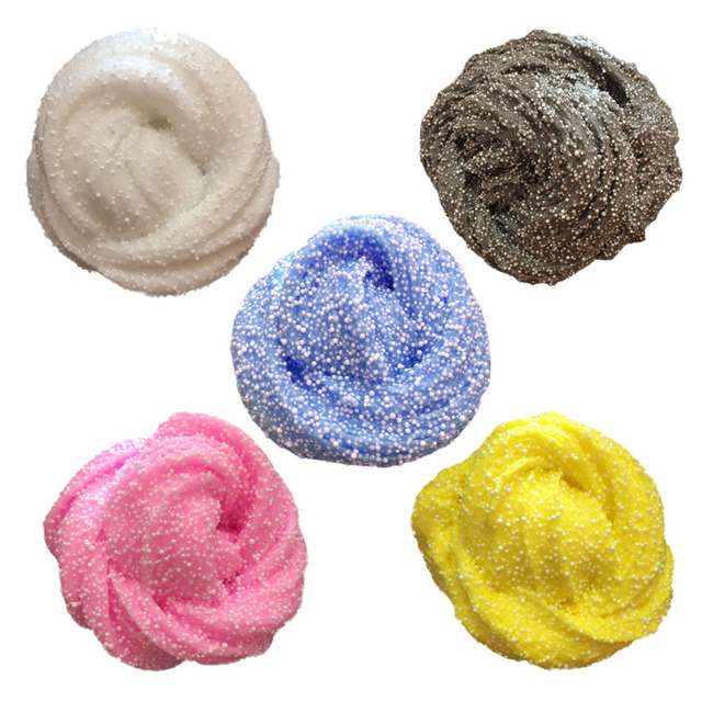 Colorful DIY Snow Flower Mud Sludge Toy Fluffy Floam Slime Scented Stress Relief Child Educational Toy Modeling Clay