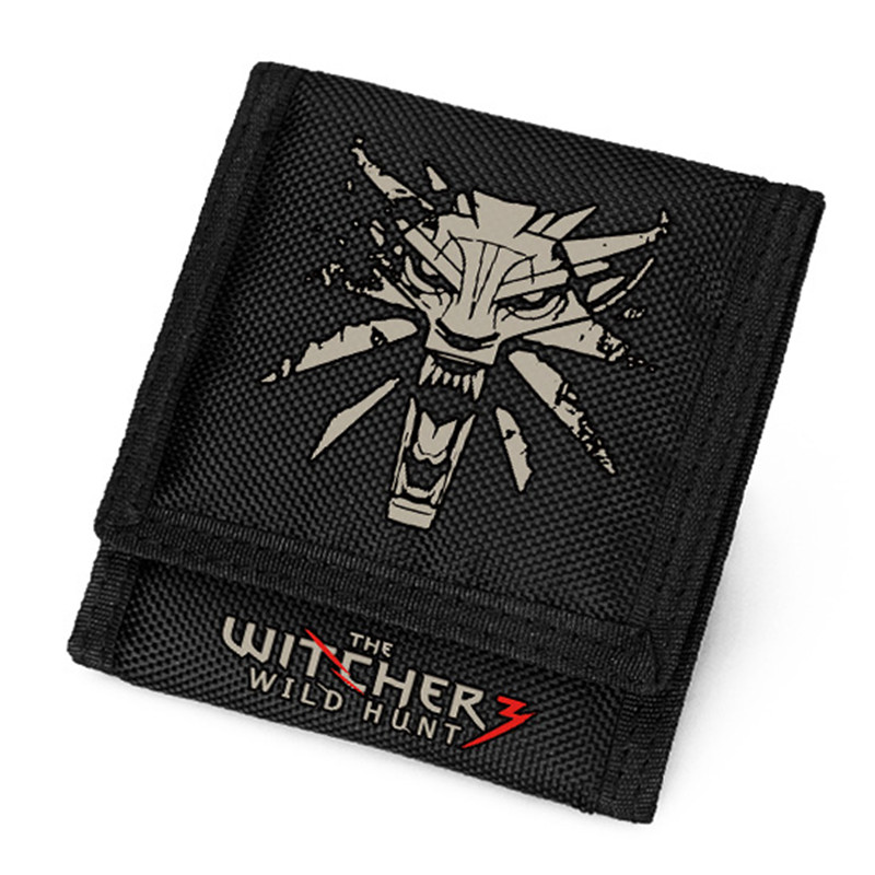 The Witcher 3: Wild Hunt Geralt of Rivia Men Short Wallet Nylon Canvas Small Coin Purse Gift ID Card Holder Carteira Masculina