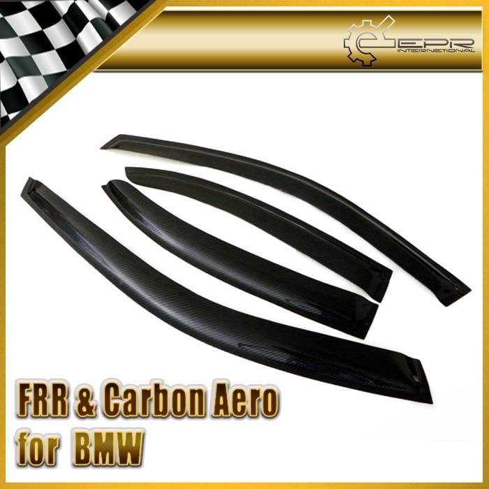 Déflecteur de vent en Fiber de carbone accessoires de finition en Fiber brillante garniture de course pour BMW E46 4 portes 4Dr