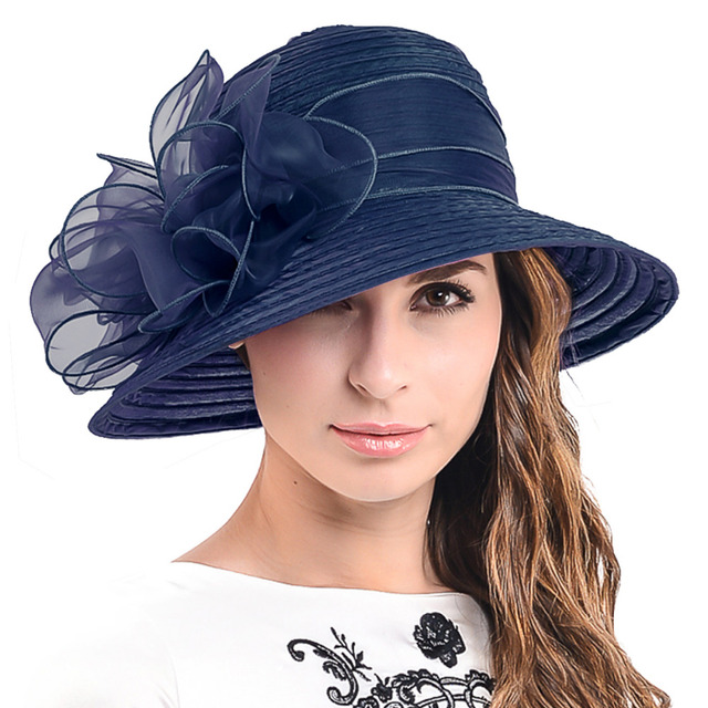 fb90ec63 HISSHE Women Kentucky Derby Hat Ladies Church Dress Tea Party Hat For Black Women  Summer Hat