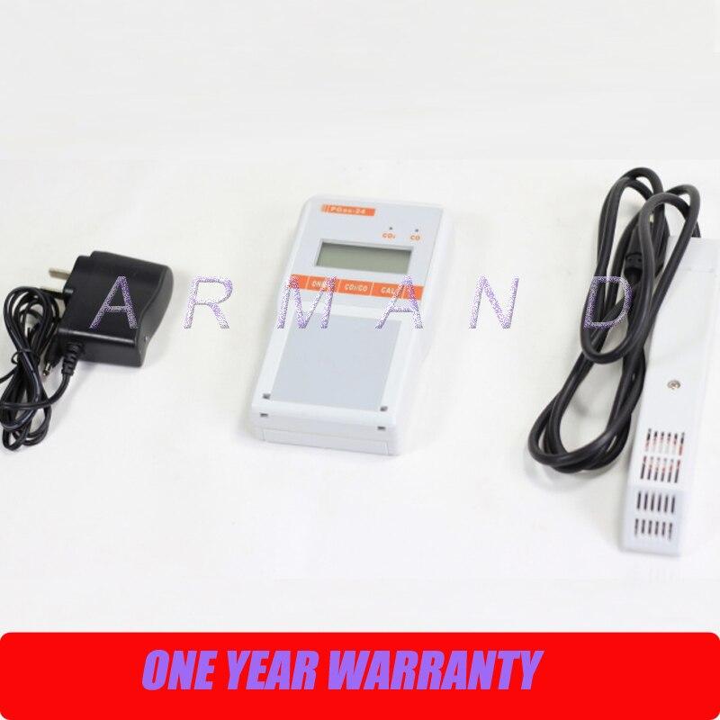 Carbon monoxide and carbon dioxide detector alarm monitor PGas-24 CO/CO2 Portable 2 in 1 Gas Analyzer