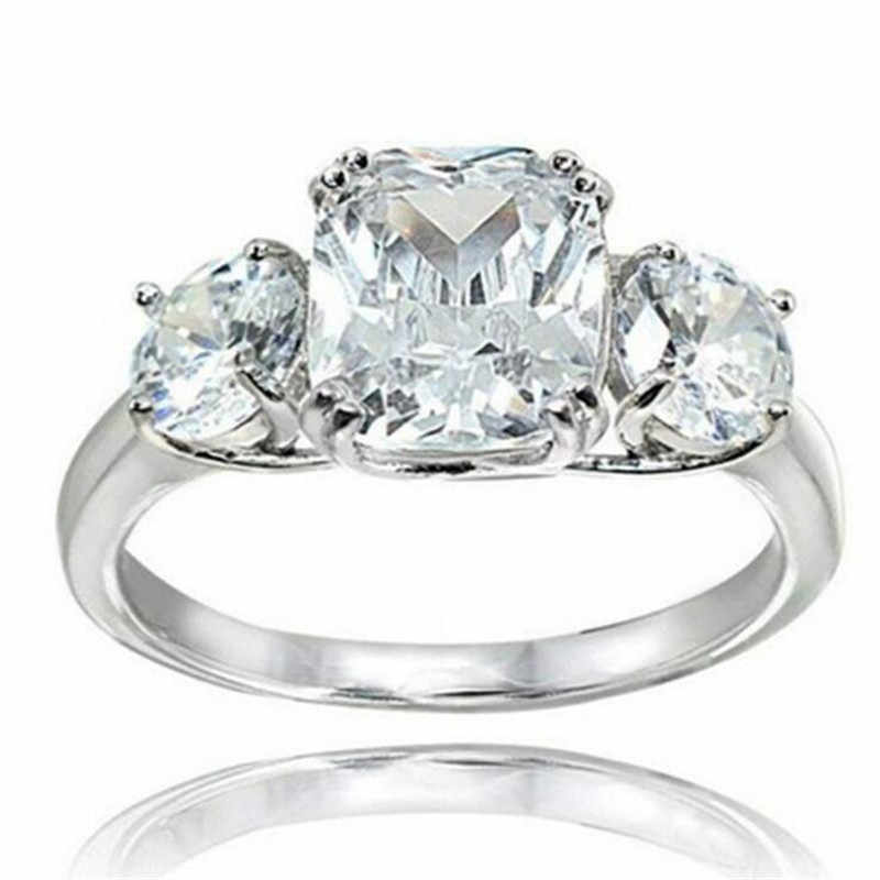 choucong Royal Promise Ring 925 sterling Silver Cushion cut AAA Zircon cz Engagement Wedding Band Rings For Women Finger Jewelry