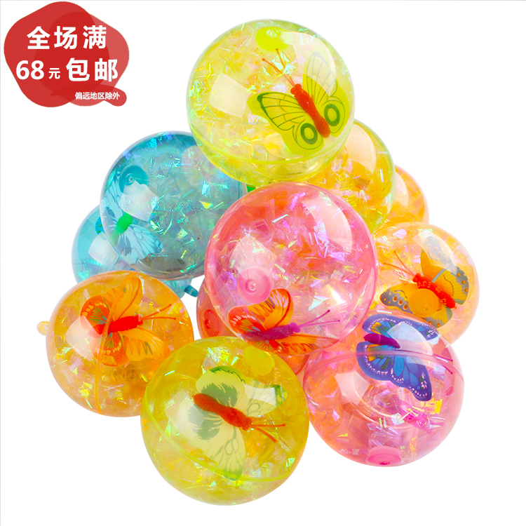6 5colorful Flash Jump Ball Luminous Crystal Elastic Ball