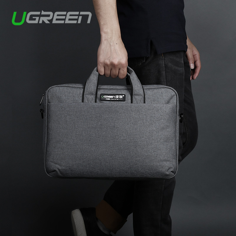 New Ugreen Polyester 15 inch Messenger Bag Waterproof Women and Men Laptop Shoulder Handbag Computer Bag For Macbook Lenovo Dell