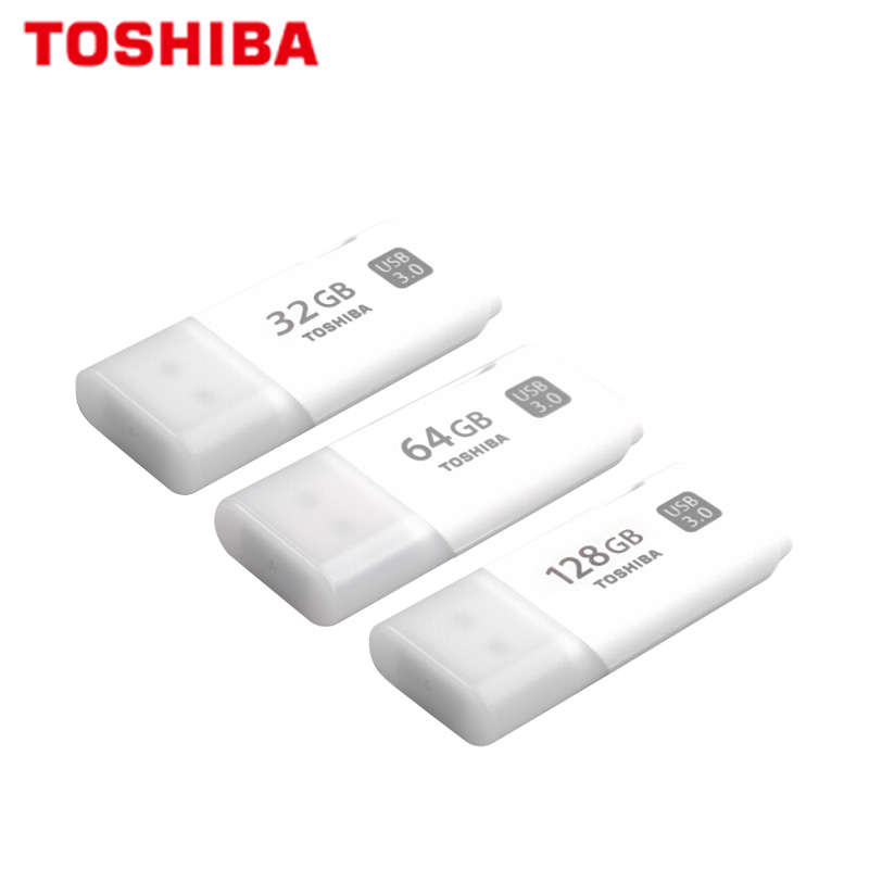 100% Original TOSHIBA U301 USB 3.0 Flash Drive 64GB 32GB Pen Drive Mini Memory Stick Pendrive U Disk White Thumb Flash Disk 3