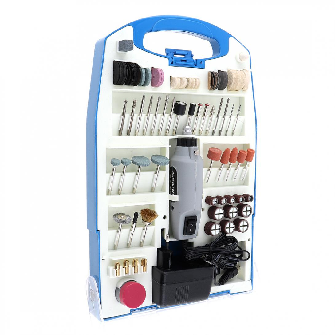 110pcs/set 220V Mini Rechargeable DC12V Electric Grinder Set with Various Wheelhead and Steel Wire Brush for Polishing/Drilling wlxy wl 301 wire brush set