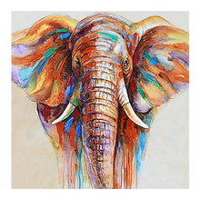 DIY diamond painting color elephant scenery full dimaond embroidery decor mosaic