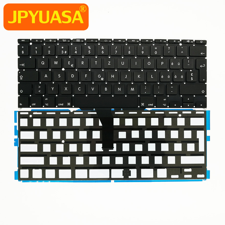 "5pcs/lot New Swiss Switzerland Keyboard with Backlight For Macbook Air 11"" A1370 A1465 2011-2015 Years"