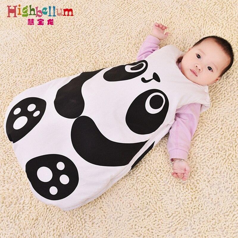 autumn baby sleeping bags 100% natural cotton baby Hignbellum baby sleep bag long-sleeve pocket pattern children sleep rompers свитшот print bar sleep autumn