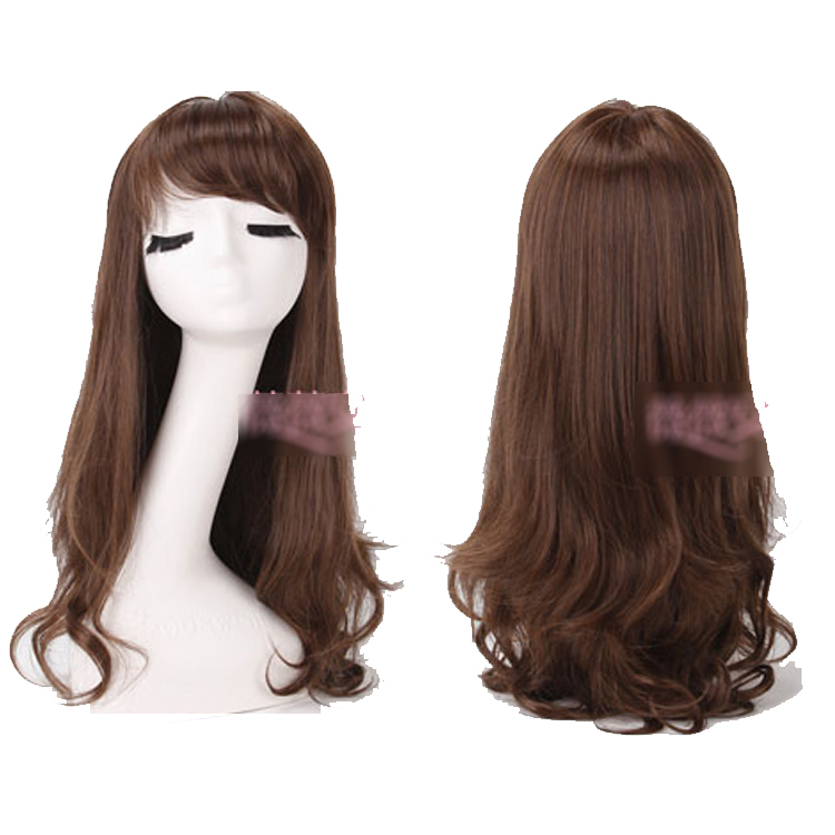 Women's wifing girls long curly hair fluffy oblique bangs , kinkiness jumbo jiafa repair