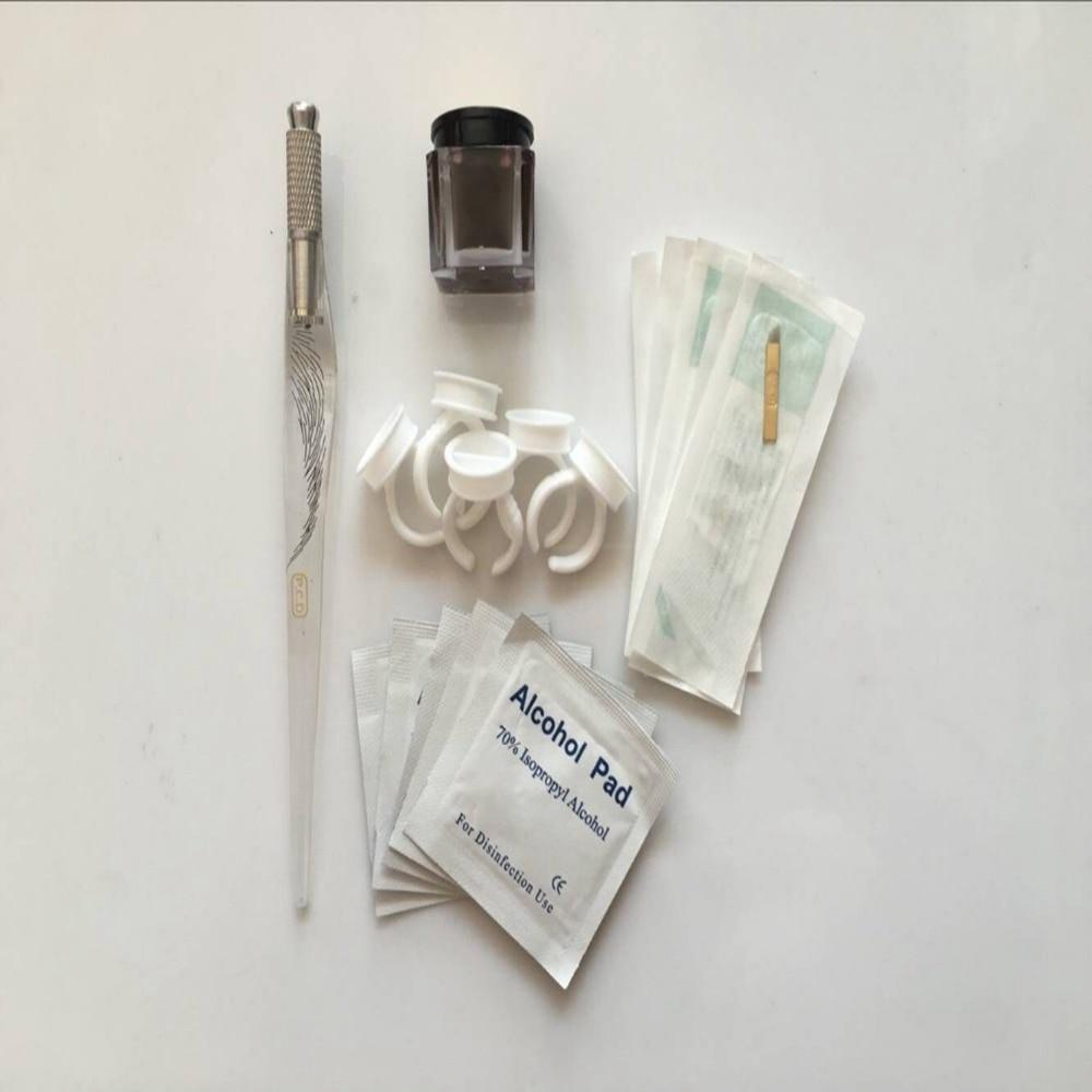 Permanent font b 3D b font Eyebrow Tattoo Practice Kit set Microblades Needles font b Pen