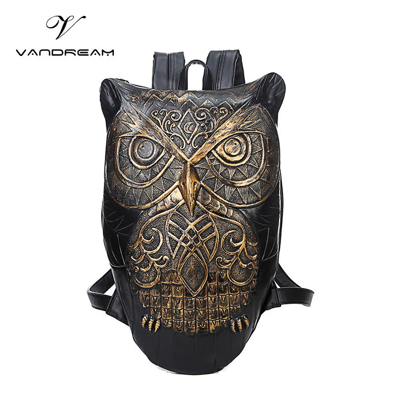 New Fashion Design Pattern Personality Unisex Men And Women Shell Backpack Schoolbag Male