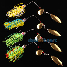 4pcs Bass Yellowbelly Cod Spinnerbait Spinner Baits Fishing Lures Hooks 20.5g Tackle Free Shipping