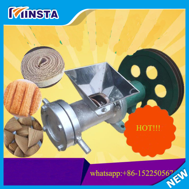 Multifunction Small Corn Extruder Corn Flour Dual Extruder With 5 Molds Machine Without Motor