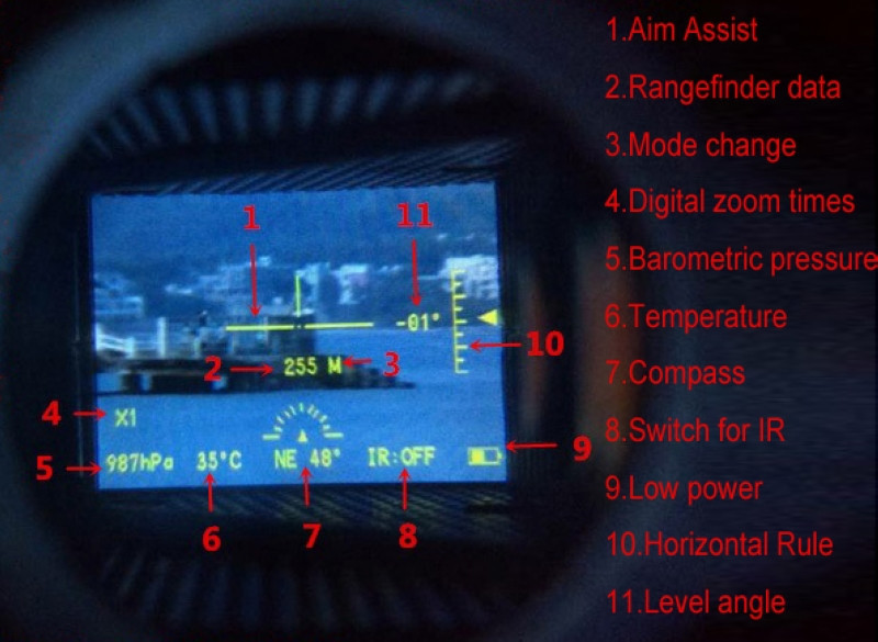 Entfernungsmesser Jagd Nacht : Askco multifunktionale digitale monokulare infrarot tag nacht vision