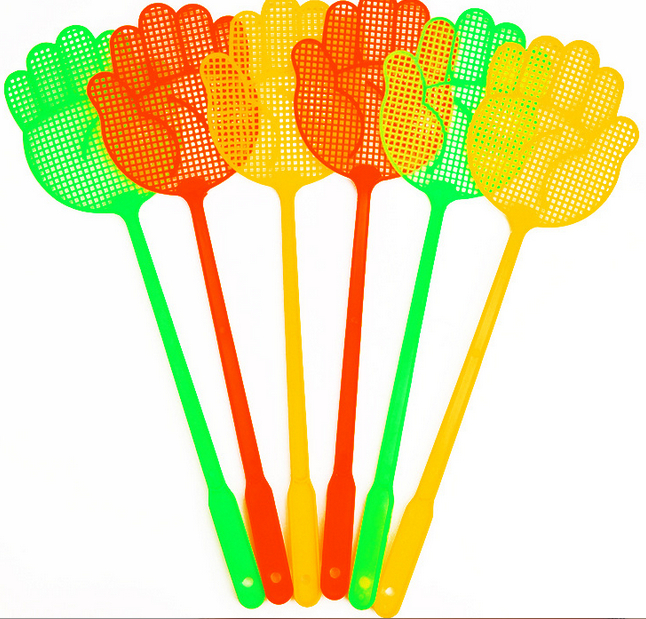 Household Fly-Swatter Plastic Palm-Type Mesh Swatter Summer Mosquito Exterminator Pat wee sing bible songs
