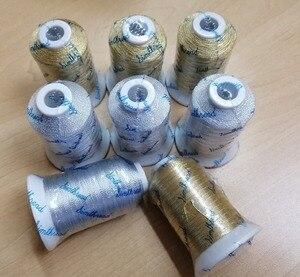 Нить для вышивки, нить из золота и серебра для большинства швейных машин, 500 м * 8 ,18 г MS Тип, высокий блеск