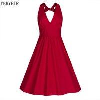 Summer Dresses Sexy Women Pinup Retro Robe Rockabilly 50s Vintage Dress Plus Size S 2XL Sexy