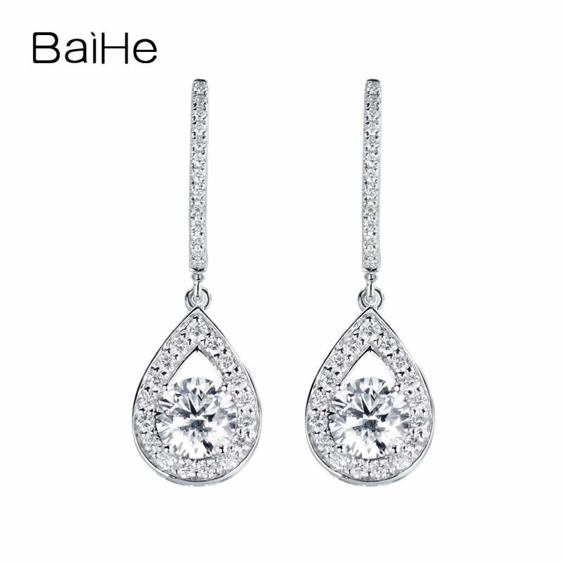 0.70 ct Genuine Blue Sapphire Gemstone 10K Yellow Gold Heart Stud Earrings Pair