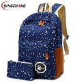 2017 Hot Sale Canvas Women backpack Big Capacity School Bags For Teenagers Printing Backpack For Girls Mochila Escolar L4-2640