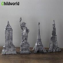 European and American Landmark Building Resin Model Retro Statue Decorations Bar Home Crafts Restaurant Furnishings Accessories недорого