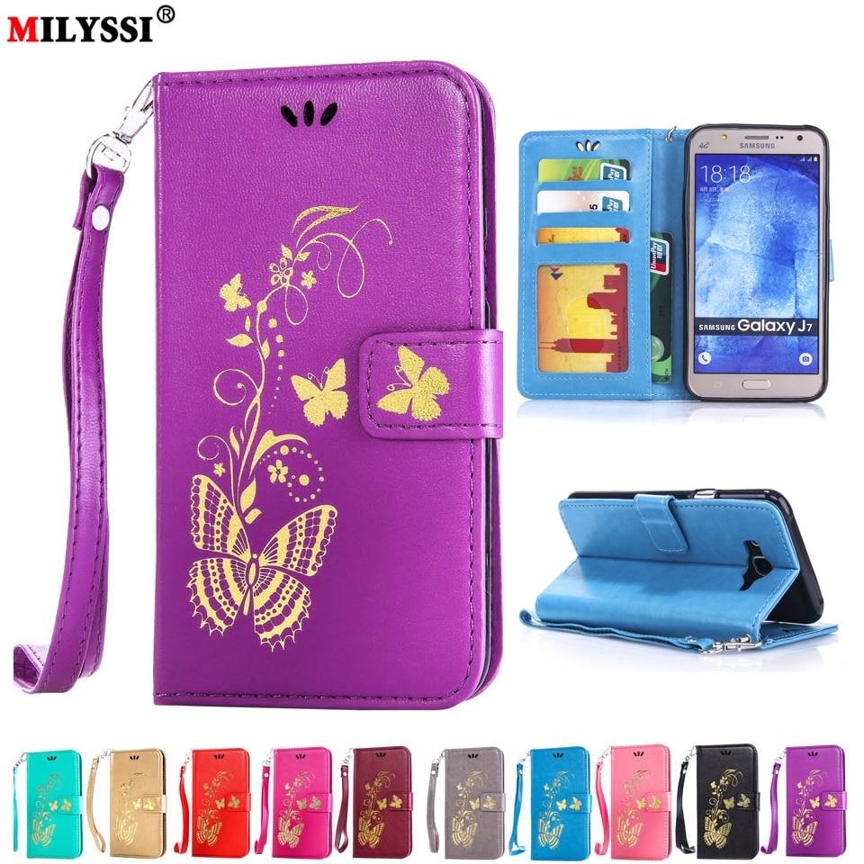 <font><b>Phone</b></font> Case For <font><b>Samsung</b></font> Galaxy J1 ACE J3 J5 J7 A3 <font><b>A5</b></font> 2015 C5 C7 Classic Butterfly Pattern PU Leather Case TPU <font><b>Holder</b></font> Card Slot