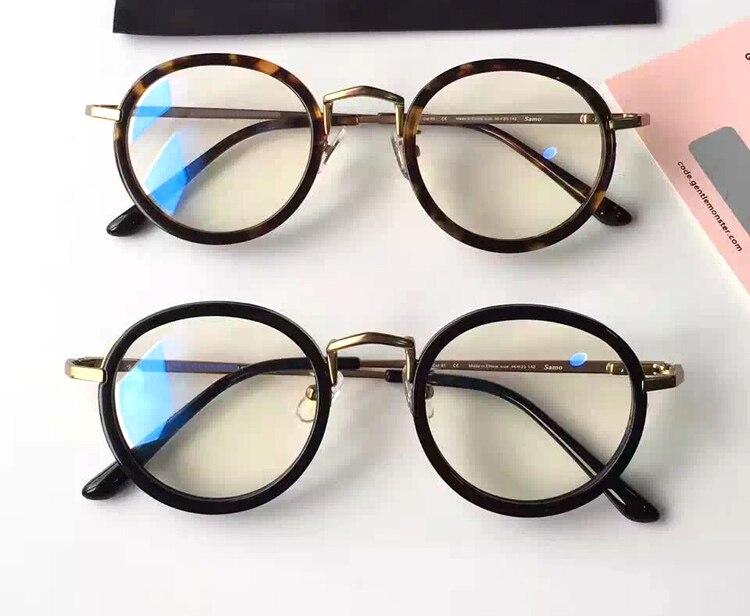 dca1f5ee1098c Óculos suaves Samo Marca Moldura Redonda Óculos de Armação de metal Retro  Mulheres Homens óculos de Leitura de Vidro de Proteção Óculos oculos de grau